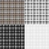 Sistema de 4 modelos geométricos inconsútiles Textura de las rayas Colores brillantes y formas simples stock de ilustración