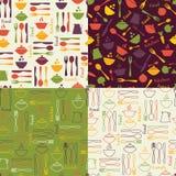 Sistema de modelos inconsútiles de la comida Imagen de archivo