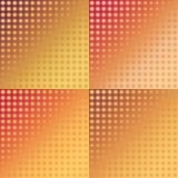 Sistema de modelos inconsútiles del ikat rojo y amarillo Fotografía de archivo libre de regalías