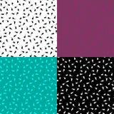 Sistema de modelos inconsútiles multicolores con los rizos Foto de archivo libre de regalías