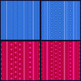 Sistema de modelos rayados Imagen de archivo libre de regalías