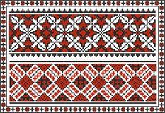 Sistema de modelos tradicionales ucranianos inconsútiles Fotografía de archivo