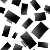 Sistema de monitor de computadora, de TV lsd, de tableta y de smartphone realistas Modelo incons?til de los diversos artilugios e libre illustration