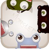 Sistema de monstruos Imagen de archivo libre de regalías