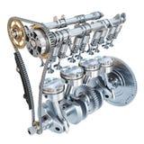 Sistema de motor de combustión interna aislado en el backgroun blanco ilustración del vector