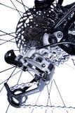 Sistema de movimentação traseiro das bicicletas fotografia de stock royalty free