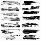 Sistema de movimientos del cepillo del grunge Imagenes de archivo