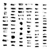 Sistema de movimientos del cepillo del grunge ilustración del vector