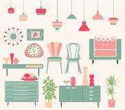 Sistema de muebles retros Libre Illustration