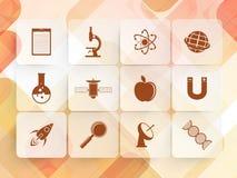 Sistema de muestras y de símbolos de la ciencia Fotos de archivo libres de regalías