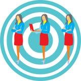 Sistema de mujeres de negocios Stock de ilustración