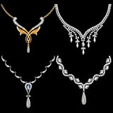 Sistema de mujeres del collar con las piedras preciosas Fotografía de archivo libre de regalías