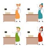 Sistema de mujeres del vendedor Fotografía de archivo