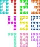 Sistema de números del dígito del pixel Ilustración del vector libre illustration