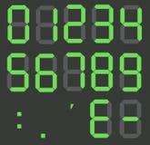 Sistema de números digitales de la calculadora stock de ilustración