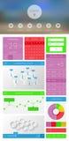 Sistema de números y de símbolos decorativos Fotos de archivo libres de regalías