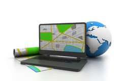 Sistema de navegação de GPS Foto de Stock Royalty Free