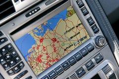 Sistema de navegação do GPS foto de stock