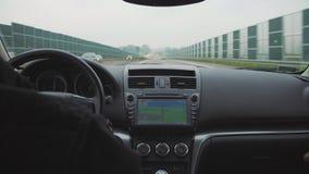 Sistema de navegación del coche foto de archivo