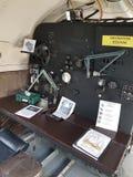 Sistema de navegación en el viejo avión de combate Foto de archivo libre de regalías