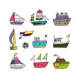 Sistema de naves, bosquejo para su diseño Fotografía de archivo libre de regalías