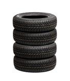 Sistema de neumáticos de coche aislados Fotos de archivo