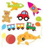 Sistema de niño del vector y de juguetes de los niños Fotografía de archivo libre de regalías