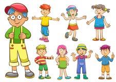 Sistema de niños de la historieta Imágenes de archivo libres de regalías