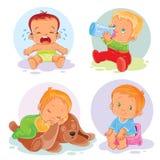 Sistema de niños de los iconos del vector Fotos de archivo