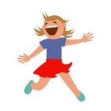 Sistema de niños que saltan con alegría Fotos de archivo