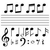 Sistema de notas de la música - ejemplo Foto de archivo libre de regalías