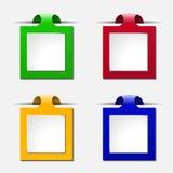 Sistema de notas del texto Imágenes de archivo libres de regalías
