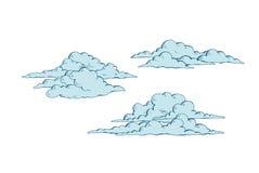 Sistema de nubes de cúmulo stock de ilustración
