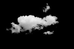 Sistema de nubes sobre negro Imágenes de archivo libres de regalías