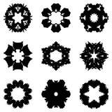 Sistema de nueve elementos del drenaje de la mano para el diseño fotos de archivo