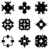 Sistema de nueve elementos del drenaje de la mano para el diseño fotografía de archivo libre de regalías