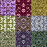 Sistema de nueve modelos inconsútiles coloridos. Foto de archivo libre de regalías