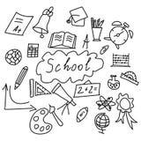 Sistema de nuevo a los iconos de la escuela libre illustration
