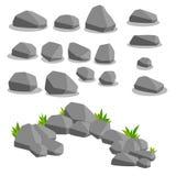 Sistema de objeto - piedras Fondo natural Imagenes de archivo