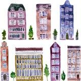 Sistema de objetos de la ciudad stock de ilustración