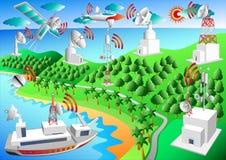 Sistema de observação global, vetor Imagem de Stock Royalty Free