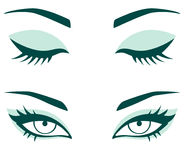Sistema de ojos femeninos Imagenes de archivo
