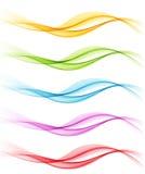 Sistema de ondas ahumadas del extracto del color Imagen de archivo libre de regalías