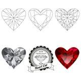 Sistema de opiniones de la joya del corte del corazón Imagenes de archivo