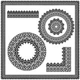 Sistema de ornamentos de la circular y del cuadrado Fotografía de archivo