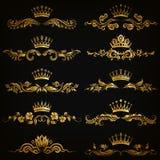 Sistema de ornamentos del damasco Fotografía de archivo