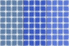 Sistema de ornamentos geométricos Modelos inconsútiles azules Imagen de archivo