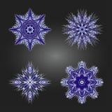 Sistema de ornamentos redondos decorativos coloreados Vector Imagenes de archivo