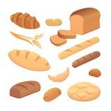 Sistema de pan de la historieta Imágenes de archivo libres de regalías