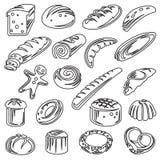 Sistema de panes Fotos de archivo libres de regalías